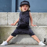 2016 New Summer  Kids Toddler Boy Rompers Clothes Printing Sleeveless Jumpsuit Outfits Sunsuit - thefashionique