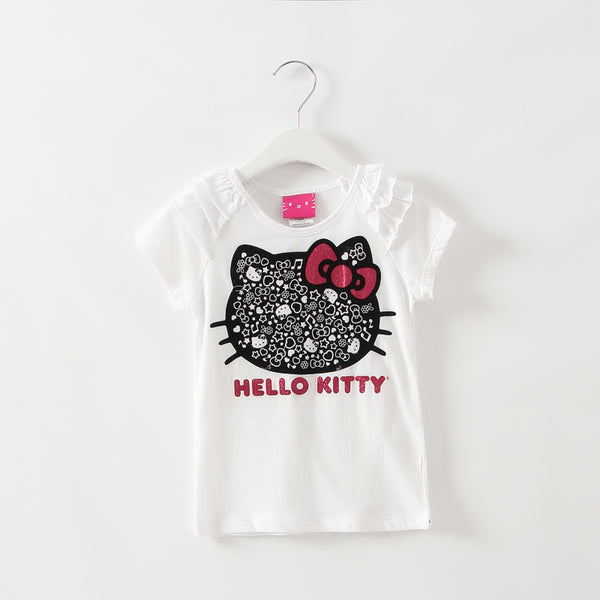 2016 kids girl clothes t-shirt whosale baby choses cotton kitty girl tops china cheap names top 100 children t shirts xst003 1ps - thefashionique