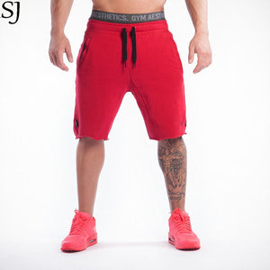 2017 Brand High Quality Cotton Men shorts Bodybuilding Fitness   short masculino workout jogger shorts golds - thefashionique