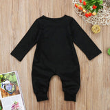 2017 Brand New Fashion Newborn Toddler Infant Baby Boys Romper Long Sleeve Jumpsuit Playsuit Little Boy Outfits Black Clothes - thefashionique