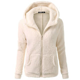 2017 Casual 5XL Plus Size Women Hooded Coat Outwear For Ladies Coat Winter Warm Wool with Zipper Cotton Soft Women Coat Abrigo - thefashionique