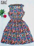 2017 Fashion Women Elegant Vintage Sweet Lace Blue Dress Stylish Sexy Love Peach Casual Slim Beach Summer Sundress Vestidos - thefashionique