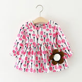 2017 Kids Girls Baby Toddler Casual Flower Autumn Cute Long Sleeve Dress - thefashionique