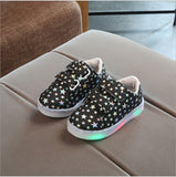 2017 New Autumn Fashion Children Shoes With Light Led Kids Shoes Luminous Glowing Sneakers Baby Toddler Boys Girls Shoes 21-30 - thefashionique