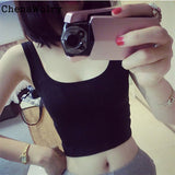 2017 New Hot Sexy Women Girl High Quality Women Tight Crop Top Skinny O-Neck T-Shirts Dance Short Vest #SY4360 - thefashionique