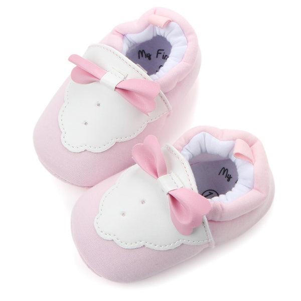 2017 New Lovely Baby Boys Girls Cute Cotton Baby Shoes Infant First Walkers Newborn Crib Soft Sole Shoes Prewalker - thefashionique