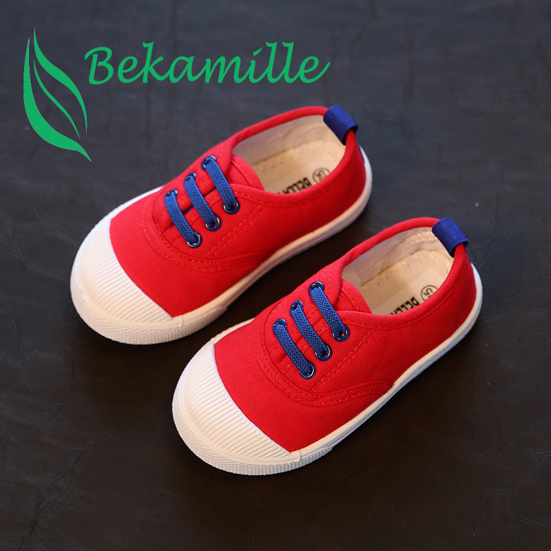 2017 New children shoes for kids sneakers baby boys and girls canvas sports shoes candy 5 colors - thefashionique