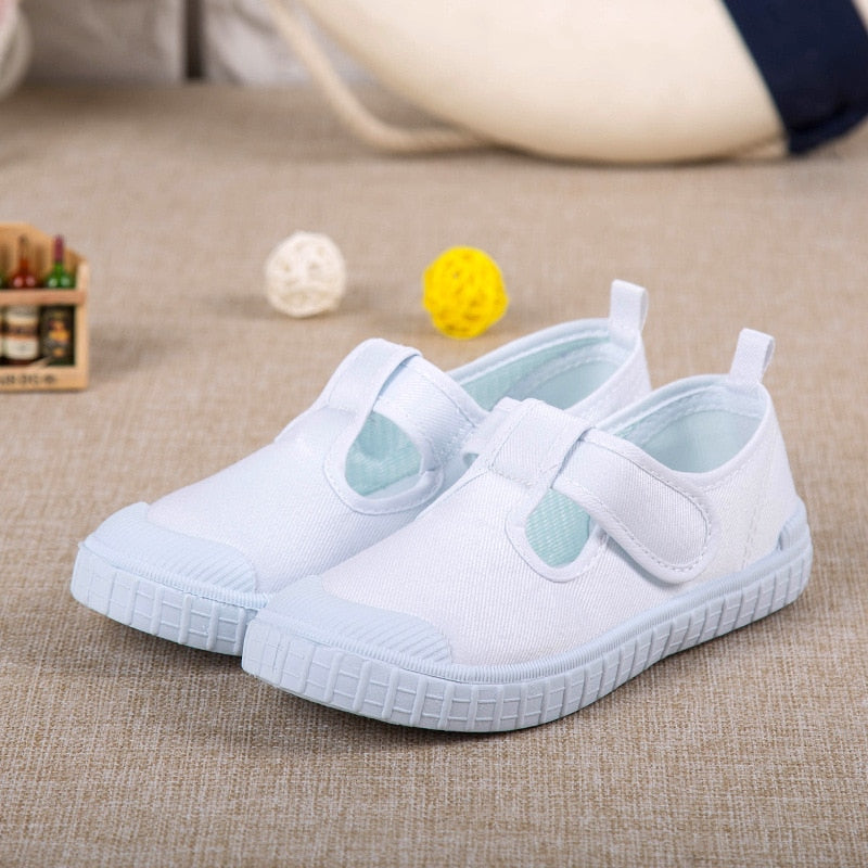 2017 New hot children white shoes girls kindergarten flat shoes ,student school sport shoes - thefashionique