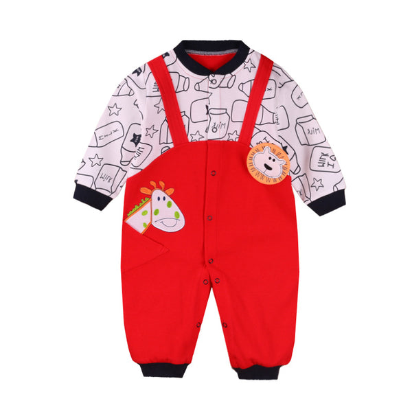 2017 New spring/autumn boys/girl clothing 3-12month baby rompers cotton Gentleman Body Suit long sleeve newborn baby clothes - thefashionique