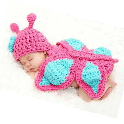 2017 Newborn Photography Props High Quality 100% Handmade Knitted Kawaii Baby Clothes Acessorios Baby Boy Accessories Baby Muts - thefashionique
