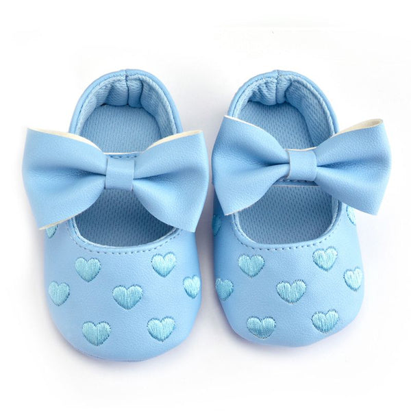 2017 PU Leather Baby Girl Shoes Moccasins Moccs Shoes Bow Fringe Soft Soled Non-slip Footwear Crib Shoes - thefashionique