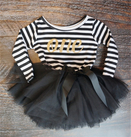 2018 Autumn Baby Clothing Stripe Cute Bow Casual Little Girl Dress For First Birthday Party Toddler Girl Clothes For Baby Child - thefashionique