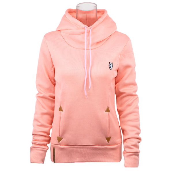 2018 Autumn Fashion Women Hoodie Sweatshirts Self-tie Pockets Pullover Hooded Loose Tops moletom feminino sudaderas mujer XXXL - thefashionique