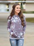2018 Autumn Fashion Womens Hoodies Long Sleeve Sweatshirt Women Hooded Floral Print Gray Ladies Pullover Kwaii Female Tops - thefashionique