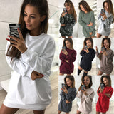 2018  Autumn Long Sleeve Elegant Loose Pullover  Casual Sweatshirt Candy Colors  O-neck Streetwear Tops wy01 - thefashionique