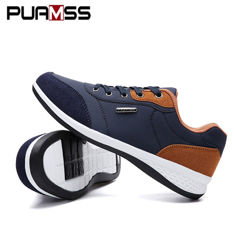 2018 Autumn New  Men Shoes Lace-Up Men Fashion Shoes Microfiber Leather Casual Shoes Brand Men Sneakers Winter Men FLats - thefashionique