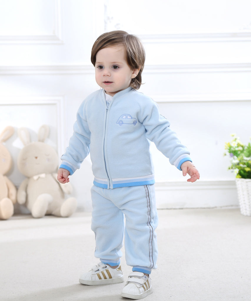2018 Baby Boy Girl Clothes Set Fleece Set Outerwear Toddler Boy  Girl Clothing Outfit  Autumn Winter - thefashionique