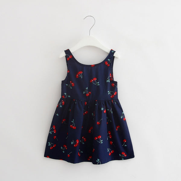 2018 Baby Girl Summer Casual Style Dress Sweet Heart Print Cotton Princess Kids Dresses For Girls Clothes Toddler Girl Clothing - thefashionique