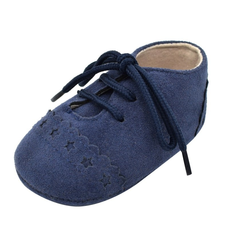 2018 Baby Kids Soft Sole Moccasin Boys Girls Toddler Suede Leather Crib Shoes 0-18M New - thefashionique