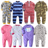 2018 Baby clothes bebes jumpsuit collar fleece newborn pajamas infants baby boys clothes toddler boys clothes coveralls outwear - thefashionique