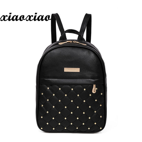 2018 Backpacks Shoulder Bags Casual Travel Bead Backpack for Teenage Girls PU Leather SchoolBag Backpack Mochila feminina S1320 - thefashionique