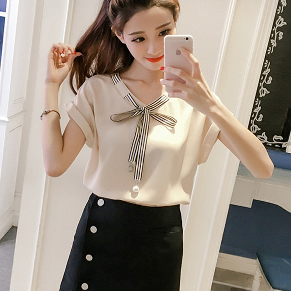 2018 Blouse Shirt Women's Korean  Style Fashion Clothing Summer Clothes For Women Tops And Blouses Female Clothes Stylish Ladies - thefashionique