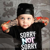 2018 Boy Clothes Cotton T-shirt Long Sleeve Children Tee Shirts Novelty Tattoo Sleeve Baby Girl Tops Spring&autumn KidsTop BB200 - thefashionique
