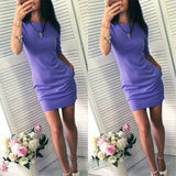 2018 Dress New Year Women's Summer Short Beach Vestido Mini Robe Casual Basic Female Dresses Vestidos - thefashionique