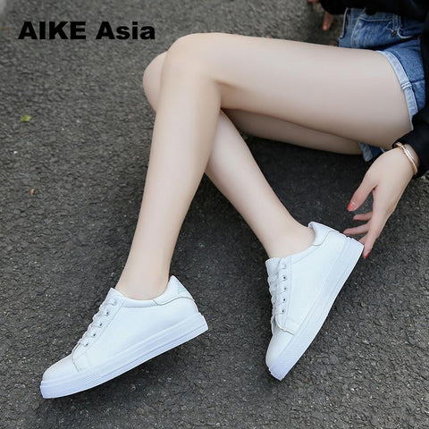 2018 Fashion Canvas Shoes Women Vulcanization Shoes Brand Woman Breathable Casual Flats white Shoes Sneakers  Women's #LL&1821