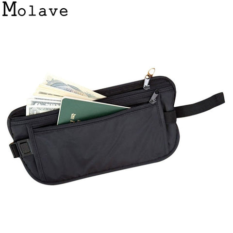 2018 Fashion New Unisex Functional Bag Casual Waist Bag Traveling Storage Zipper Waterproof Polyester Pouch Bag Wallet Apr13 - thefashionique