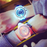 2018 Fashion Tide LED Light wristwatch Female Form Student Casual Sports Personality Jelly Luminous Watches child Clock Hours - thefashionique