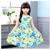 2018 Flower Girls Dress Sleeveless Bow Kids Dresses for Girls 4 5 6 7 8 9 10 11 12 Year Summer Children Princess Clothing - thefashionique