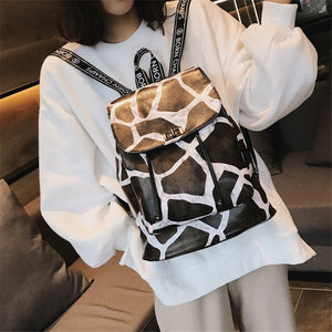 2018 HOT Sale Leopard Zebra Giraffe Pattern Backpack Shoulder Bag Female Small Backpack PU Leather Bag Travel  Bag - thefashionique
