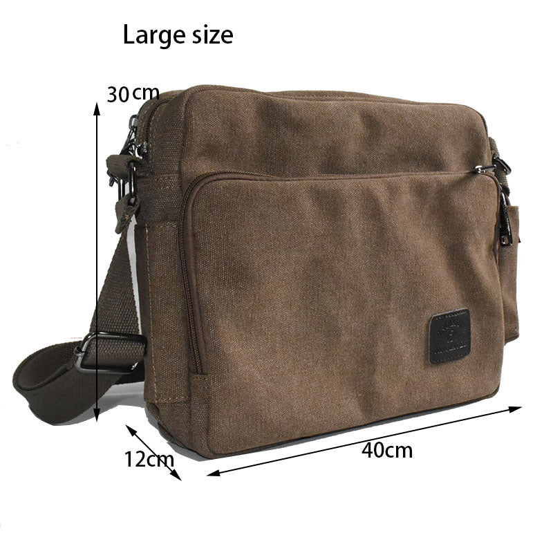 2018 High Quality Men Canvas Bag Casual Travel Men's Crossbody Bag Luxury Men Messenger Bags - thefashionique