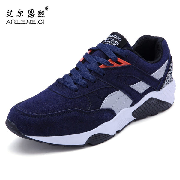 2018 Hot Sale Mens Vulcanized Shoes Spring/autumn Men Shoes High Quality Frosted Suede Casual Shoes Platform Lace Up Footwear Men's Shoes