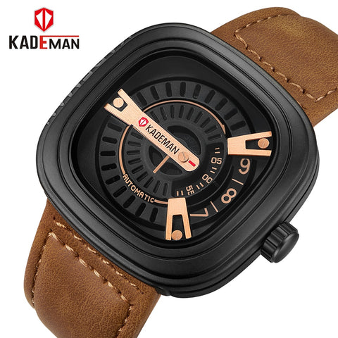 2018 KADEMAN Top Brand Men Military Sport Watches Mens Analog Watch Male Army Leather Quartz Clock Wrist watch Relogio Masculino