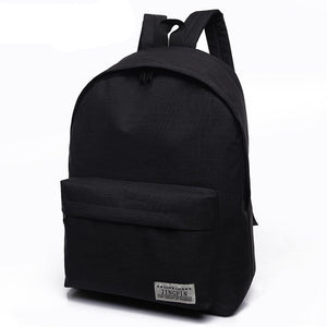 2018 Men Male Canvas black Backpack College Student School Backpack Bags for Teenagers Mochila Casual Rucksack Travel Daypack - thefashionique