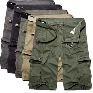 2018 Mens Military Cargo Shorts Summer army green Cotton Shorts men Loose Multi-Pocket Shorts Homme Casual Bermuda Trousers 40 - thefashionique