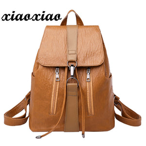 2018 NEW Backpack female backpacks women Vintage Girl Leather School Bag Backpack Satchel Women Travel Shoulder Bag A0611#30 - thefashionique