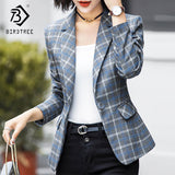 2018 New Arrival Autumn Winter Women Striped Blazers Elegance Fashion - thefashionique
