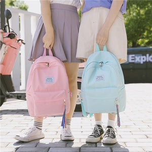 2018 New Backpack Tassel Letter Ring Best Travel Backpack Female Ribbon Girl Women Backpack Mochilas Bagpack Shoulder Bag - thefashionique