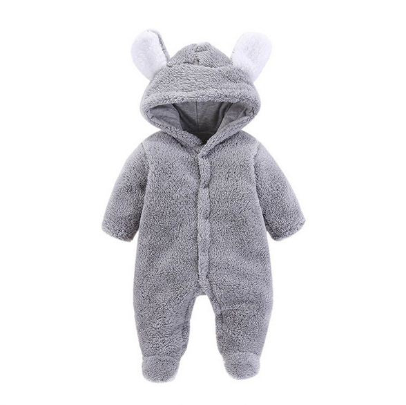 2018 New Born Baby Clothes Baby Clothing Baby Boy Rompers Fleece Bear Long Sleeve Cartoon Newborn Baby Girls Clothes - thefashionique
