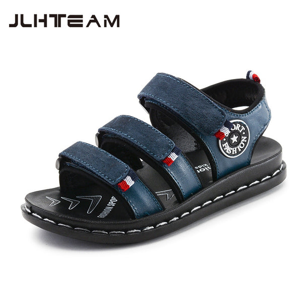 2018 New Children shoes Genuine Leather Sandals Male Kids Sandals Baby Boys Summer Sandals Casual comfortable summer Beach shoes - thefashionique