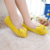 2018 New Fashion Girls Shoes PU Leather With Big Bowtie Candy Color Children Sandals Slip-on Kids Casual Shoes EU 21-36 Soft Hot - thefashionique