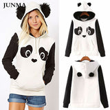 2018 New Fashion High Quality Women's Winter Warm Panda Fleece Pullover Jumper HoodedSweater Coat Tops - thefashionique