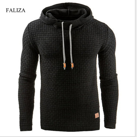 08aecff22b5dfe 2018 New Fashion Men Long Sleeve Solid Color Hooded Men s Sweatshirt Mens  Pullover Hooded Tracksuit Sweat