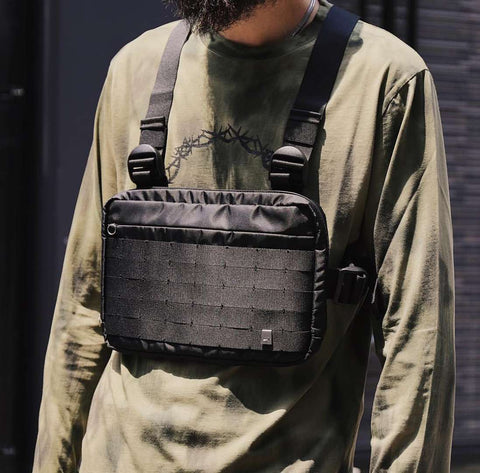 2018 New Hot Fashion Alyx Chest Rig Hip Hop Streetwear Functional Tactical Chest Bag Cross Shoulder Bag Kanye West - thefashionique