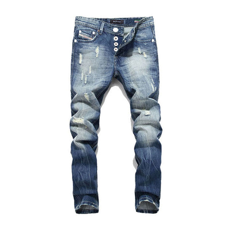 2018 New Hot Sale Fashion Men Jeans Dsel Brand Straight Fit Ripped Jeans Italian Designer Distressed Denim Jeans Homme 40