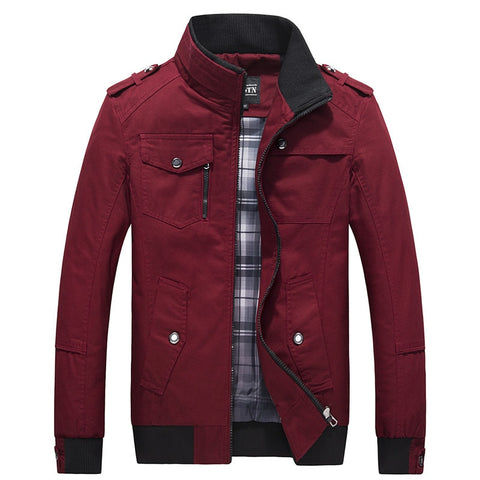 2018 New Jackets Men Autumn Winter Fashion Mens Coats And Jackets Military Army Stand Collar Casual Brand Clothing Size M-4XL