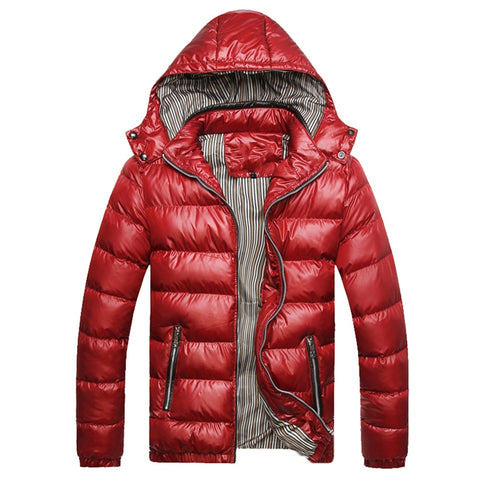 2018 New Jackets Men Winter Windproof Mens Coats And Jackets Hooded Warm Quality Solid Zipper Casual Parkas Men Plus Size M-4XL